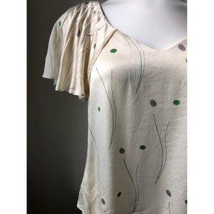 Anthropologie   HD in Paris   💯% silk blouse   2